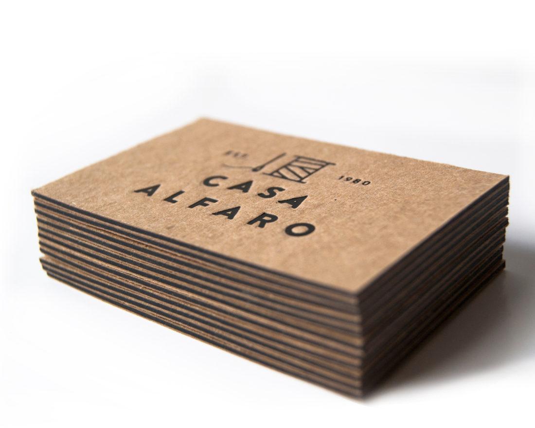 tarjetas de visita, stamping por Ductus, Zaragoza
